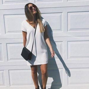 Babaton white shift dress